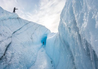 Exploring the inland ice sheet, Greenland