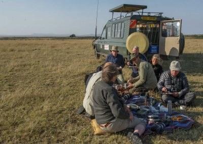 Lunchbreak in Kenya