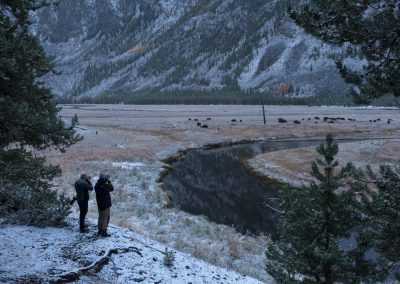 Cold morning in Yellowstone National Park