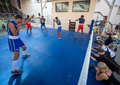 Boxers in action in Havana