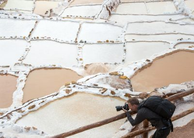 Salt production in Peru