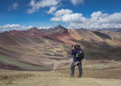 High up on Rainbow Mt in Peru